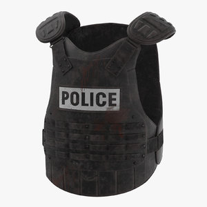 3d bloody police riot gear