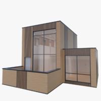3d modern micro home interior