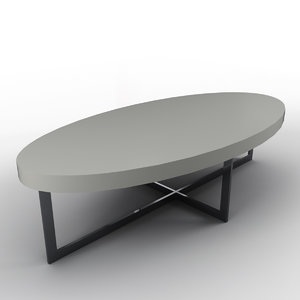 3ds simple oval coffee table