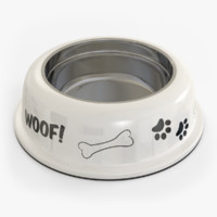 3d model dog bowl