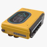 sport walkman 80 s 3d max