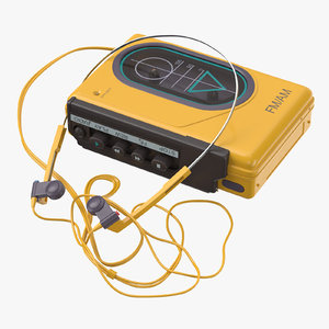3d model of sport walkman 80 s
