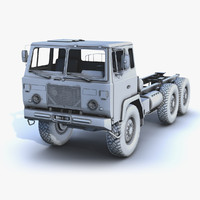 3ds low-poly military truck uvs