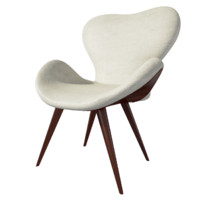 contemporary swan beige armchair