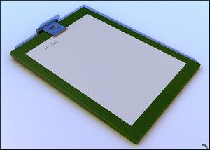 free clipboard 3d model