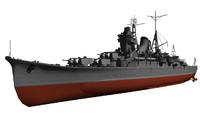 ijn mogami 3d model