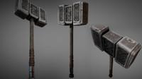 3d model of fantasy stone warhammer