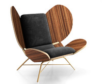 wing lounge chair 3d model