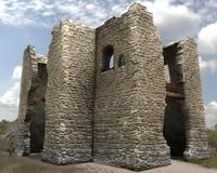 castle ruins 3d 3ds