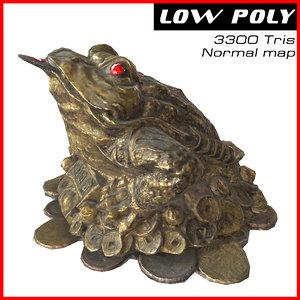 3d model money toad