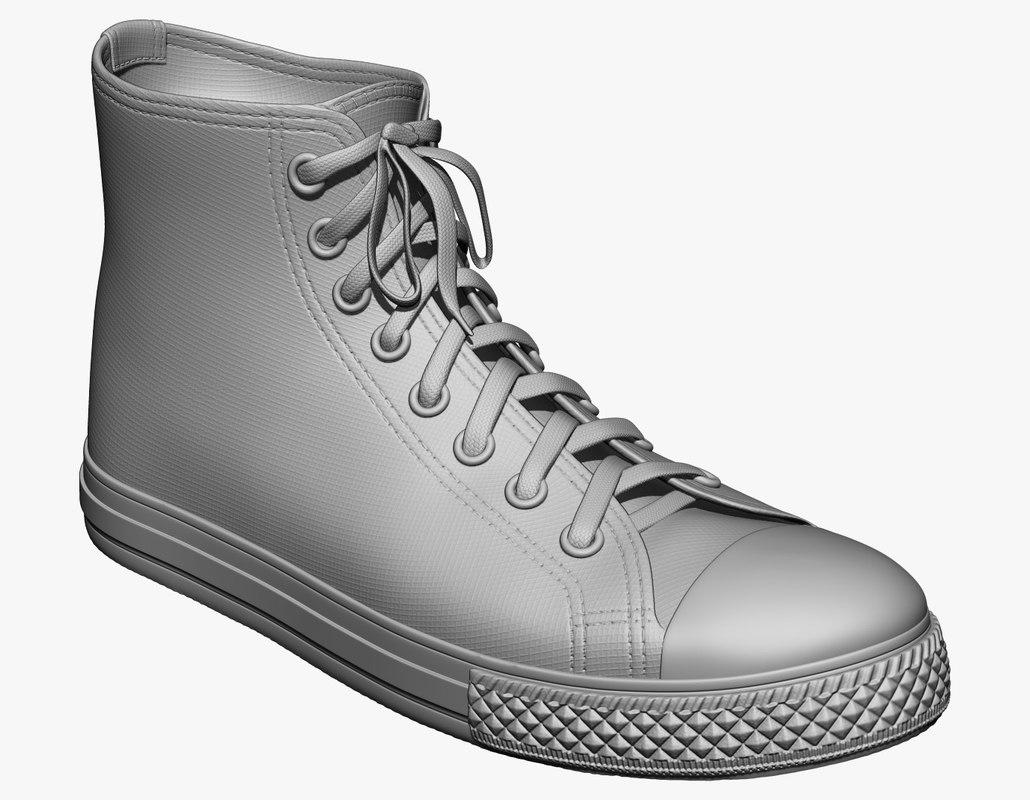 3d model sneakers zbrush