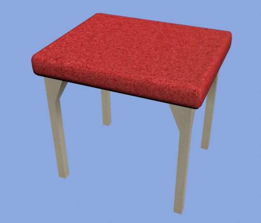 free stool chair seat 3d model
