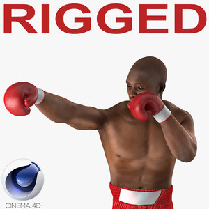 african american boxer red c4d