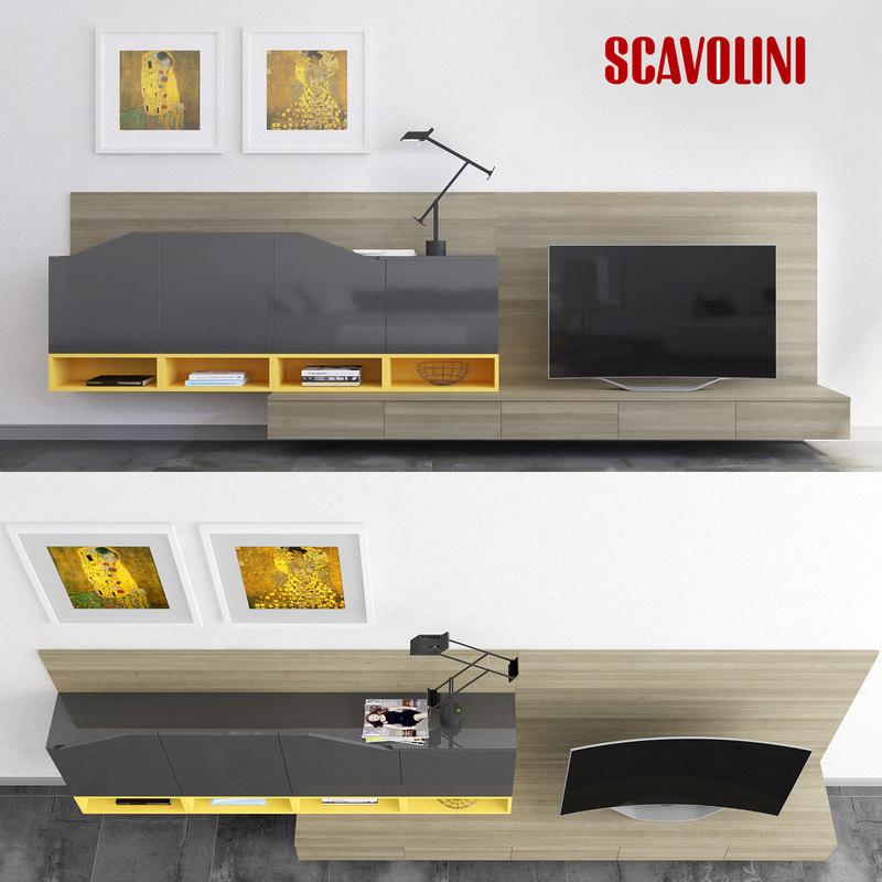 scavolini living flux swing 3d max