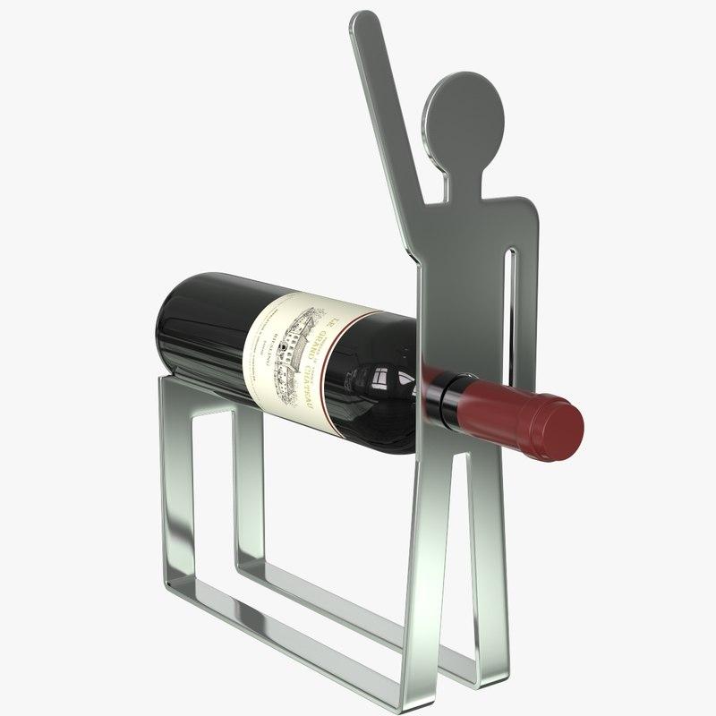 holder wine bottle 3d 3ds
