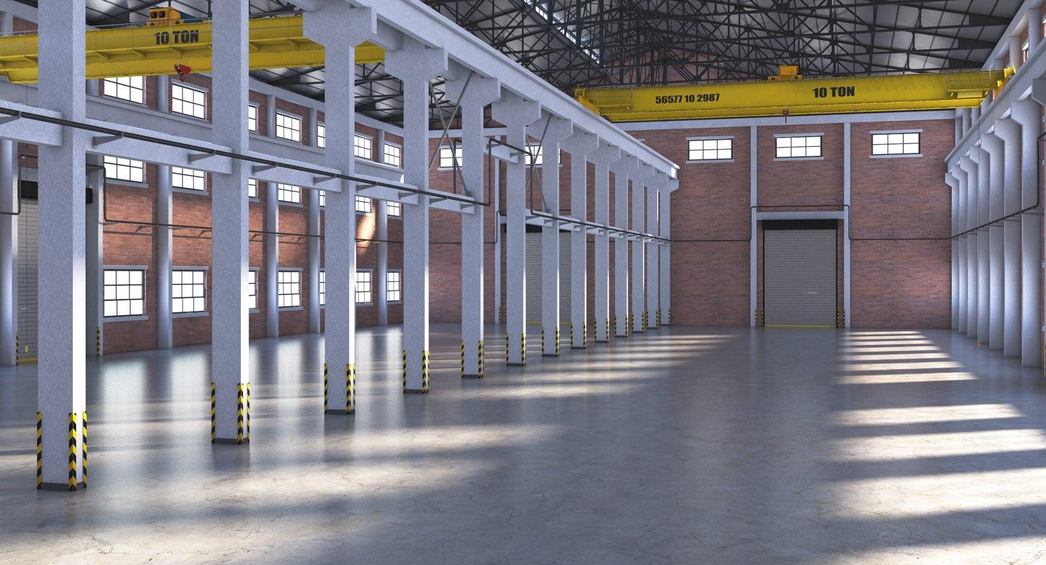 warehouse interior 3d model