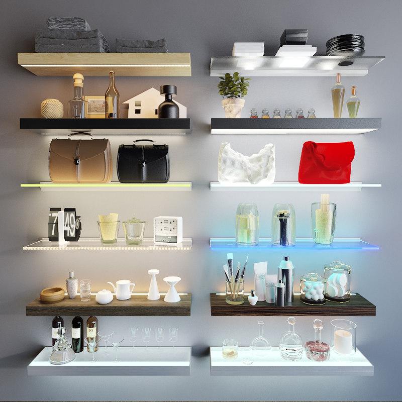 shelves 3d model
