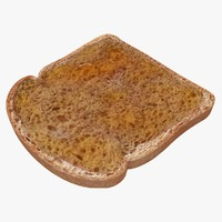 bread honey spread 3d max