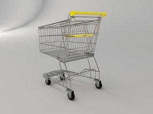 shopping cart 3d obj