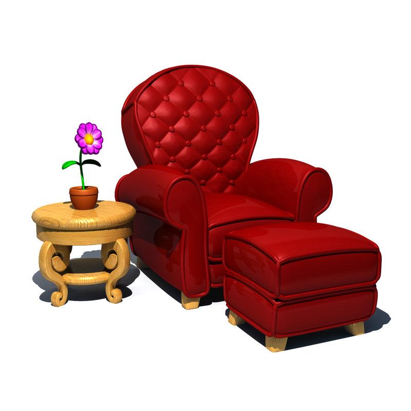 3d cartoon chair model