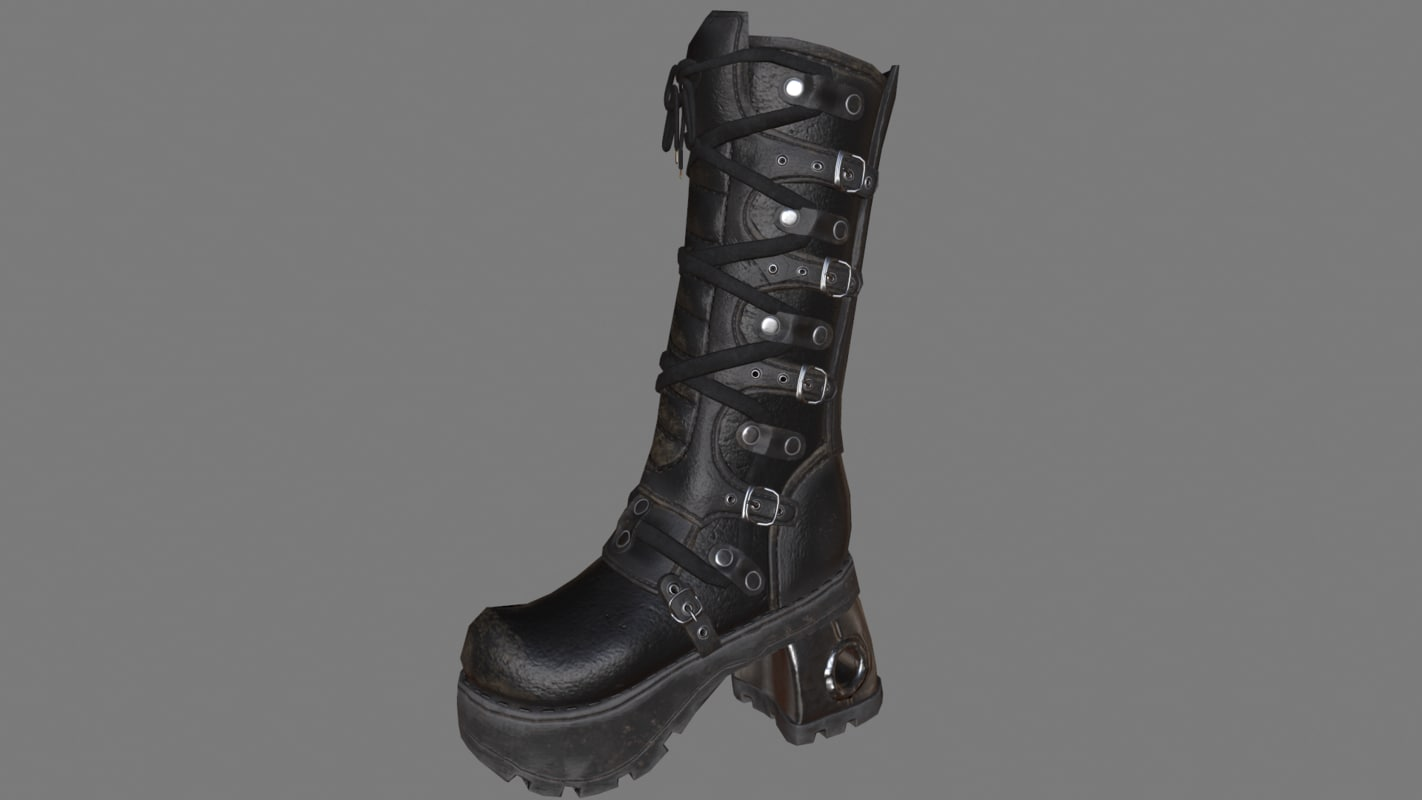 gothic boot 3d model