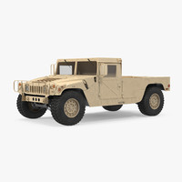 hmmwv m998 simple interior 3d model