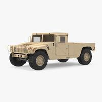 HMMWV M998 Simple Interior Desert 3D Model