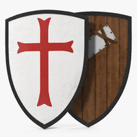 3d knights templar shield