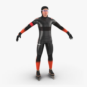 3d speed skater 2 generic model