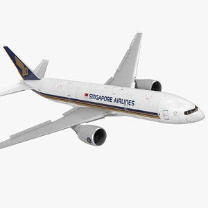 3d boeing 777-200 singapore airlines