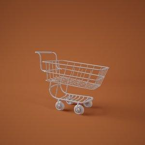 shopping cart 3d c4d