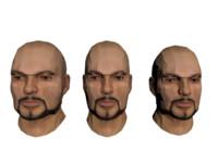 3d model heads set