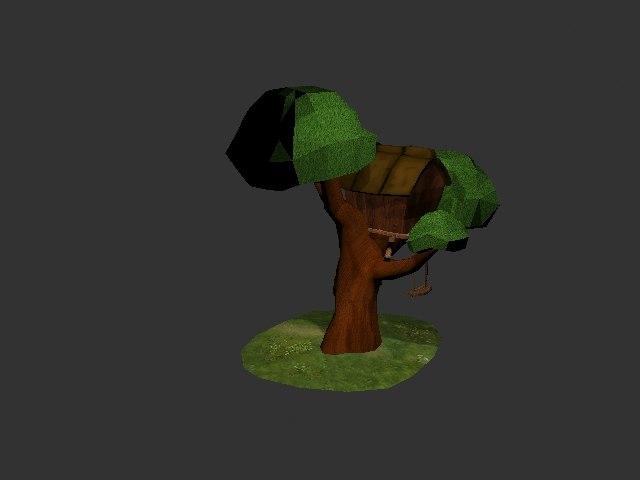 3d model of tree house