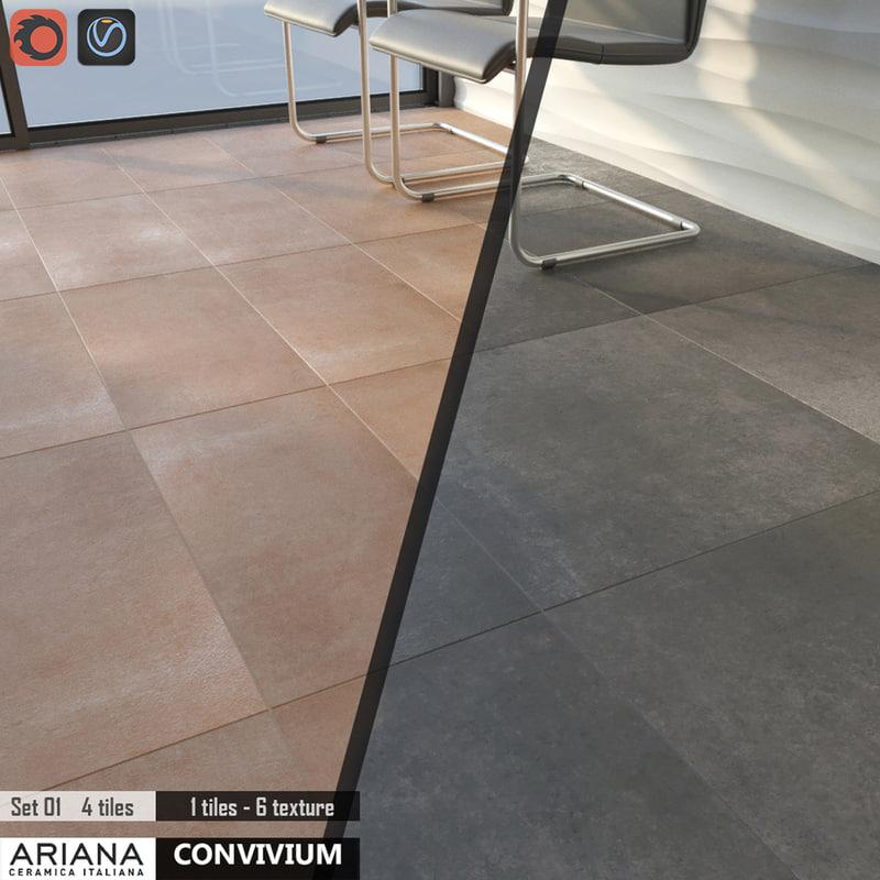 tile ariana convivium set 3d max