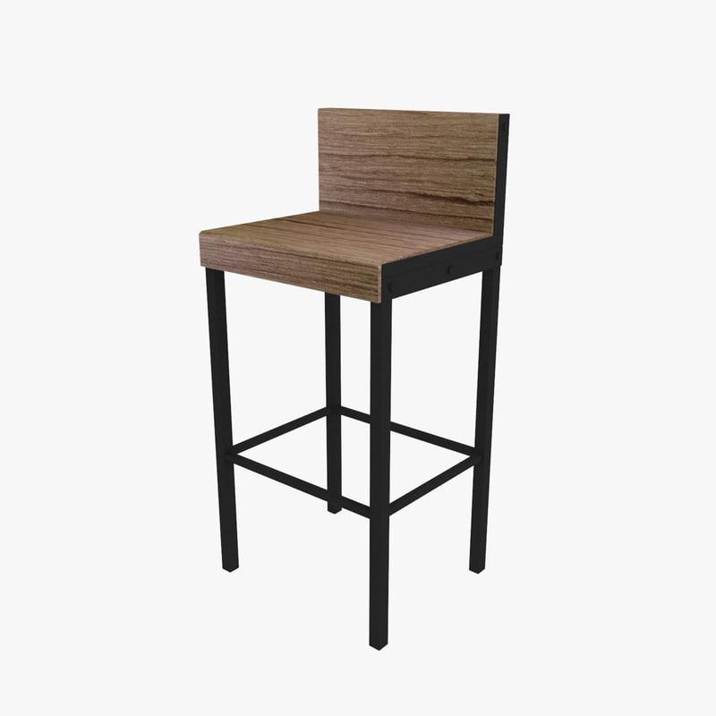 bar stool obj