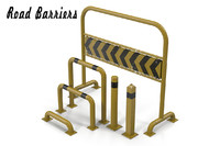 3d model road barriers