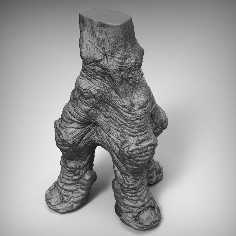 alien fantasy foot 3d obj