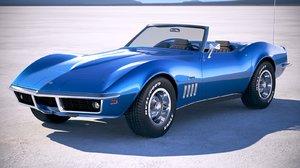 chevrolet corvette c3 3d model