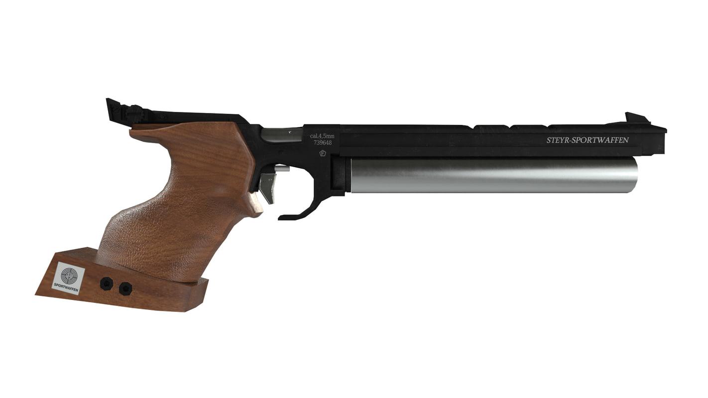 gun steyr lp10 3d model