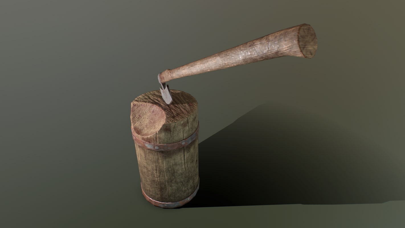 pbr executioner axe block 3d obj