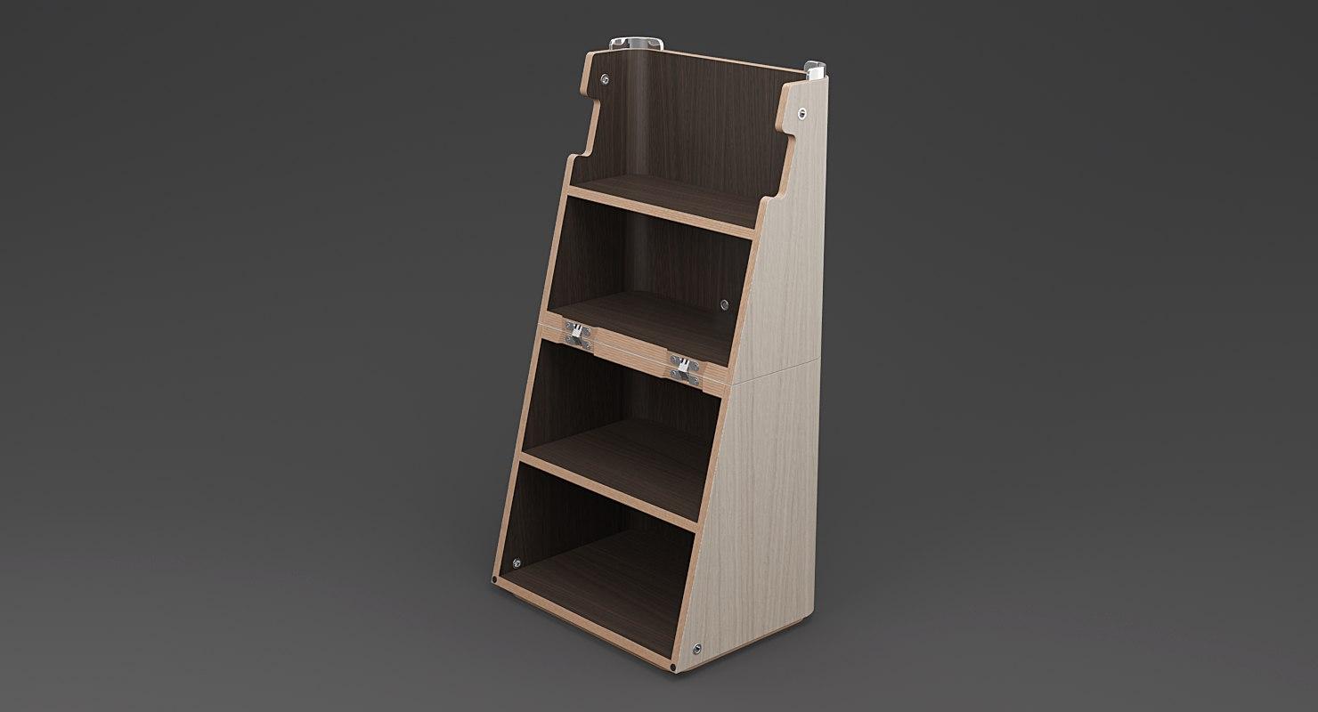 realistic step ladder stool 3d model