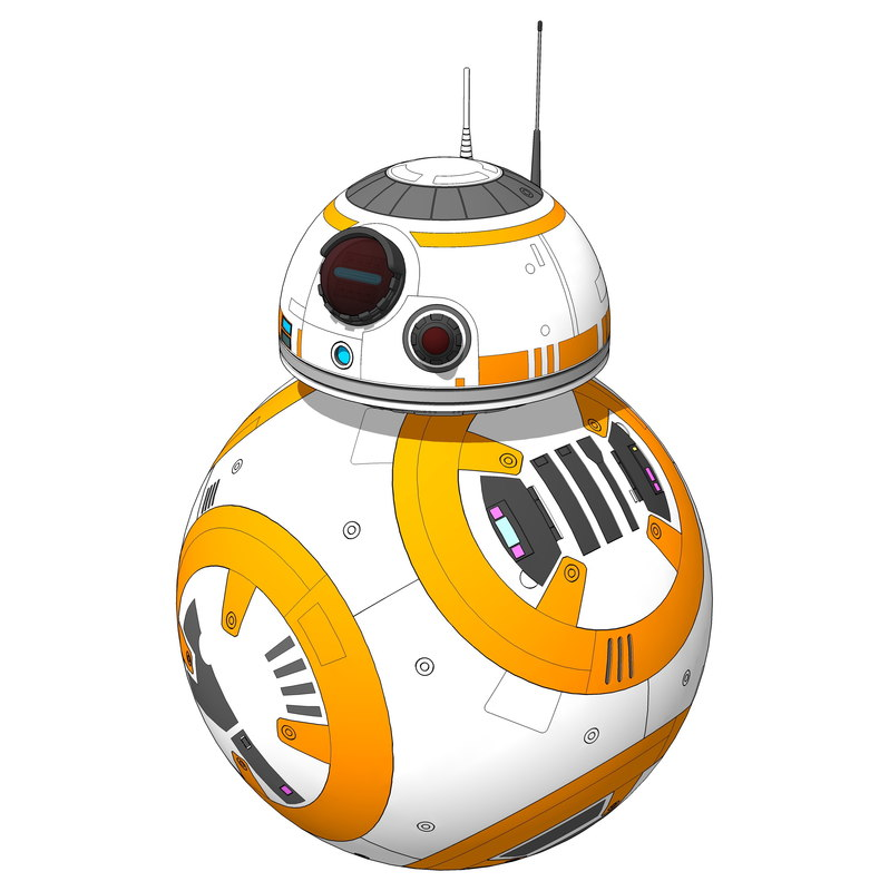3d model bb-8 droid