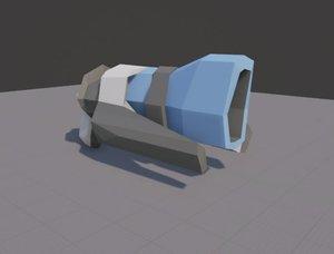 sci fi rifle 3d fbx