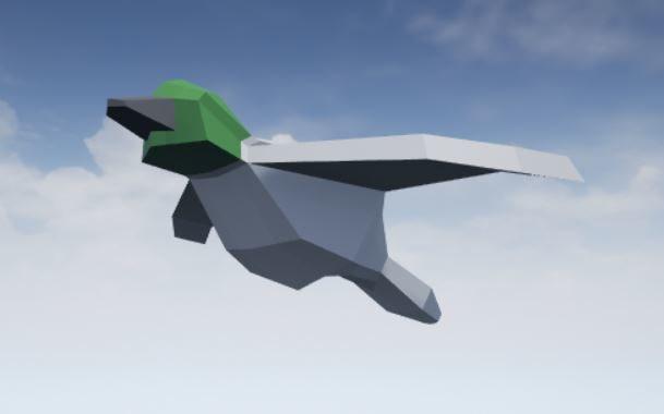 3d model bird flapping