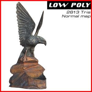statuette eagle 3d max