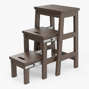 3d model realistic step ladder stool
