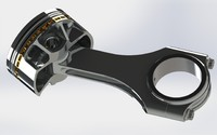 3d piston connecting rod