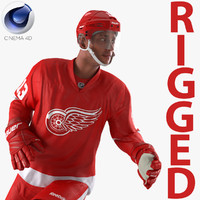 hockey player red wings 3d model