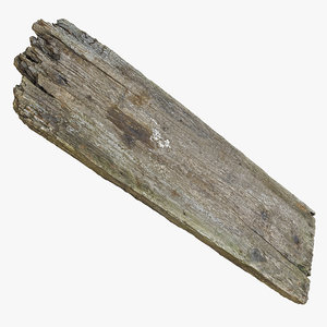 damage plank wood broke 3d model