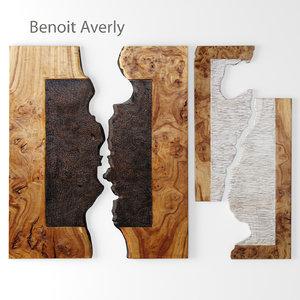 wall art benoit averly 3d model